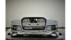 Комплект передний бампер + диффузор в стиле RS A6 рестайл