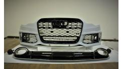 Комплект передний бампер + диффузор в стиле RS A6 дорестайл